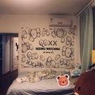 掛毯 魔術貼掛布-潮牌個性牆壁裝飾掛毯桌...