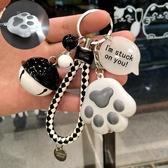卡通鑰匙扣女創意可愛女生包包掛件汽車鑰匙鏈圈情侶【聚寶屋】