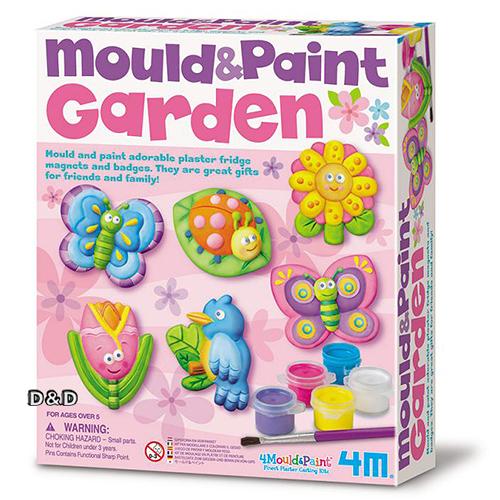 《4M美勞創作》Mould & Paint / Garden 蝴蝶花園(磁鐵系列)  ╭★ JOYBUS玩具百貨