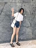 短袖T恤 純白色t恤女短袖純棉黑打底衫T桖寬鬆半袖打底內搭疊穿圓領白t潮 曼慕