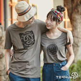 【西班牙TERNUA】女棉質短袖上衣1207063 / 城市綠洲(輕量、透氣、快乾)