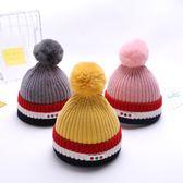嬰兒帽子秋冬季6-12個男女寶寶保暖毛線帽1歲男童冬天小童帽子