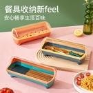 筷子收納盒家用瀝水餐具籠筷子盒帶蓋防塵廚房筷子筒筷子簍 一米陽光