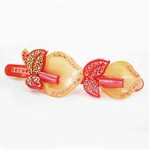 【粉紅堂髮飾】甜美海芋花朵水鑽髮夾*粉紅色*