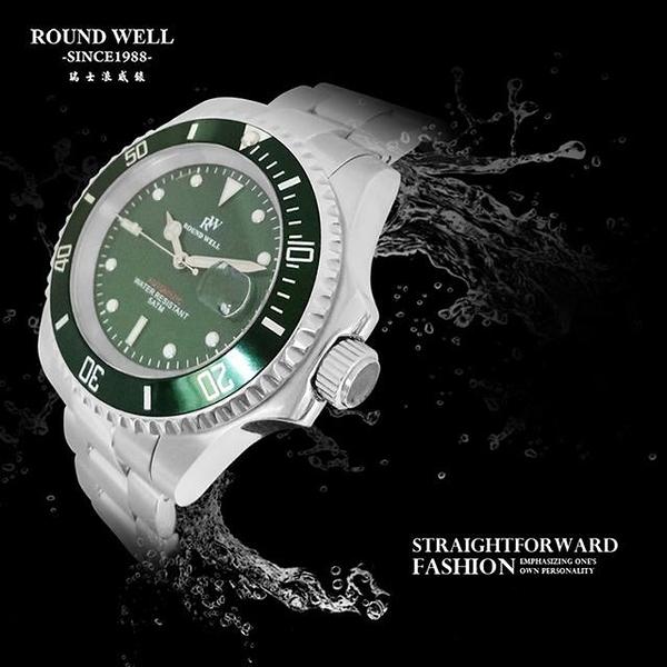 【南紡購物中心】ROUND WELL 瑞士品牌浪威錶 時光領航者機械腕錶 RW2030 G&G 公司貨