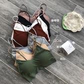 夏季新款韓版無鋼圈美背薄款運動文胸內衣女聚攏吊帶抹胸裹胸