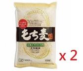 日本進口 麥飯 膳食纖維豐富 黃金糯麥 もち麦(米粒麦)630g/包-2包組