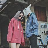 LMTNZD秋季復古拼色連帽衛衣男士情侶寬鬆oversize加絨套頭潮外套『新佰數位屋』