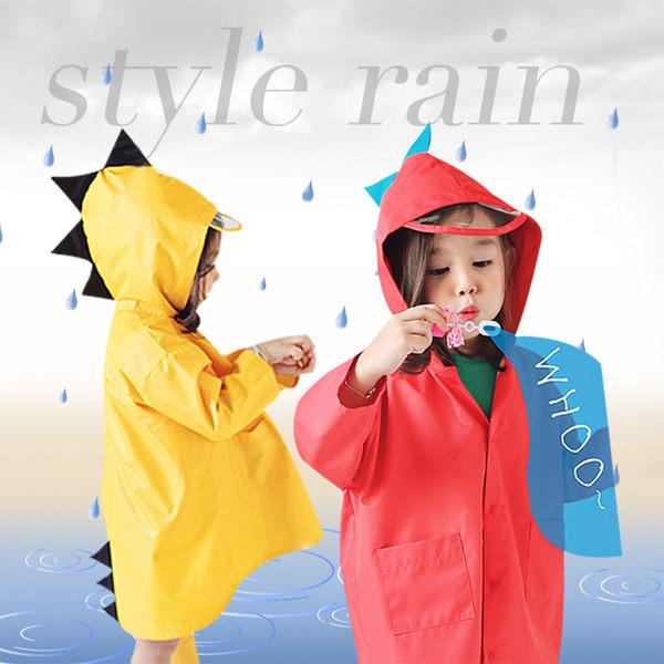 兒童防潑水衣 立體小恐龍造型防風雨衣 88001