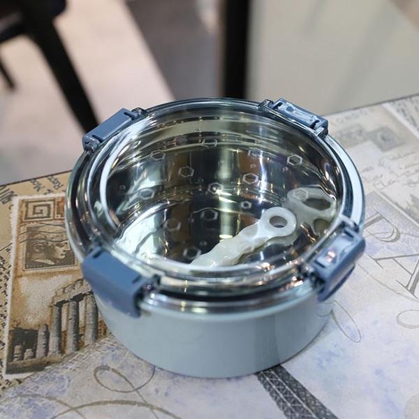 保溫碗上班族輕便不銹鋼泡面碗飯盒不銹鋼帶蓋碗304便當盒 淇朵市集