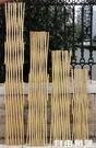 戶外小柵欄圍欄月季植物爬藤竹子花支架花園竹竿陽台伸縮竹條籬笆CY  自由角落