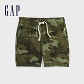 Gap嬰兒柔軟印花鬆緊腰休閒短褲577009-綠色迷彩