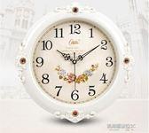 靜音掛鐘現代客廳時鐘歐式掛錶個性時尚鐘錶創意石英鐘家用  凱斯盾數位3c
