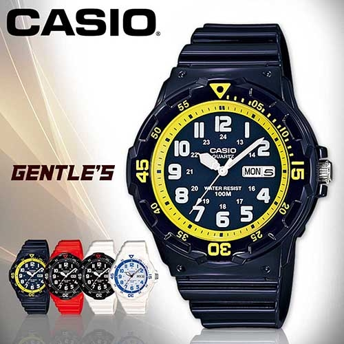 CASIO手錶專賣店 卡西歐  MRW-200HC-2B 男錶 潛水造型指針 日期星期 防水100米 橡膠錶帶