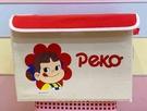 【震撼精品百貨】不二家牛奶妹_Peko~牛奶妹可摺疊式收納箱-米黃/花#15338