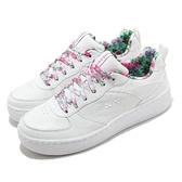 Skechers 休閒鞋 Sport Court 92 女鞋 白色 板鞋 小白鞋 花【ACS】 149451WMLT