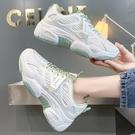 老爹鞋 老爹鞋女潮新款夏季女鞋網面透氣運動休閒鞋子秋款小白鞋-Ballet朵朵