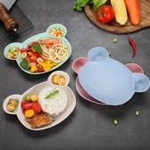 全館83折小麥秸稈防摔兒童碗勺子筷子叉子餐具寶寶分格餐盤套裝嬰兒幼兒園