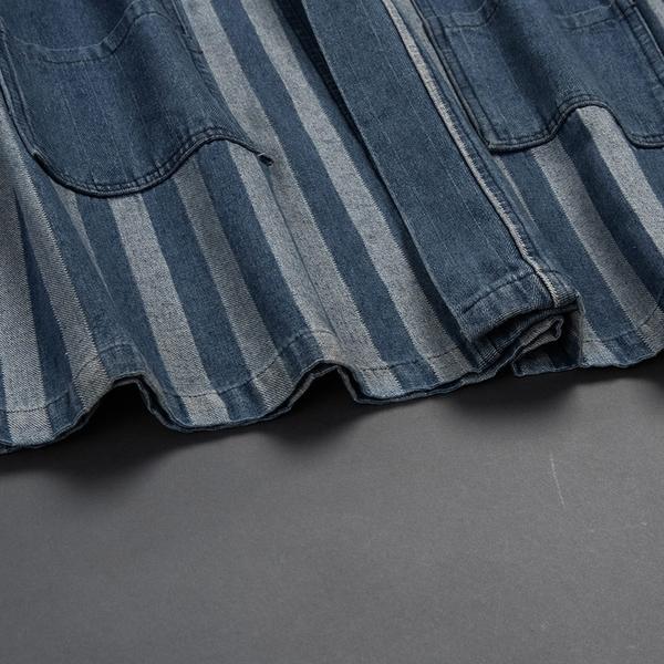 Queen Shop【02050277】牛仔直條紋日系造型開襟外套*現+預*