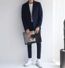 韓國原裝 找到自己 西裝外套 深藍 西裝 禮數 穿搭 外搭 正式 雅痞 歐美 潮流 油頭 刺青 正貨
