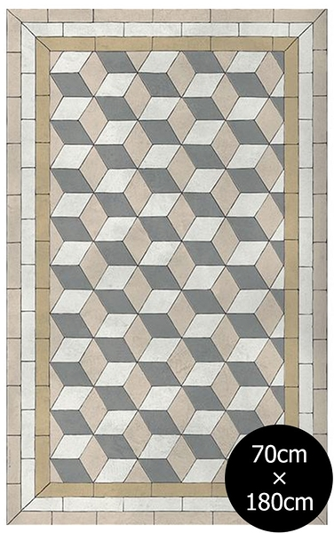 地墊  幾何形 磚紋 Beija Flor beija flor Tile Flooring BapP C Authentic (70×180)