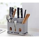 熱賣款家用瀝水刀架 塑膠廚房插刀置物架筷勺收納架子 刀具架菜刀架刀座