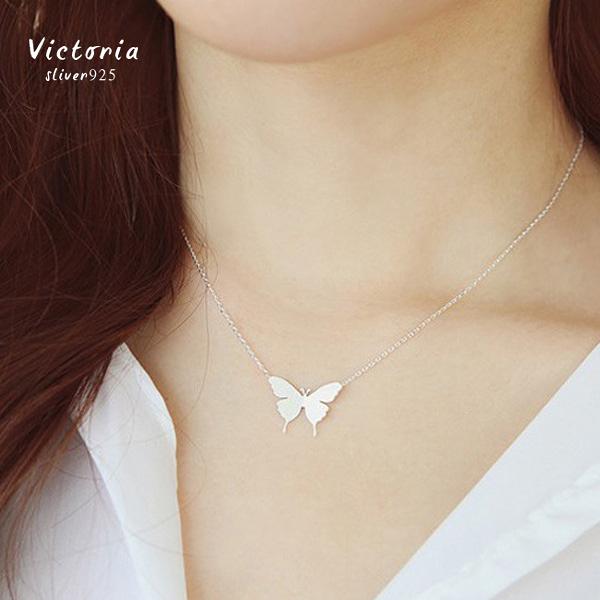 S925銀 韓系優雅蝴蝶 項鍊-維多利亞161250