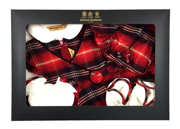【金安德森】秋冬新生兒禮盒-甜美蝴蝶結背心裙+兔裝(共二色)