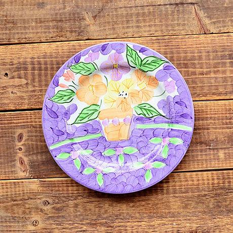 手繪陶瓷|7.9寸平盤|