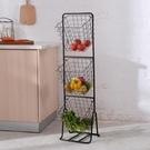 廚房蔬菜夾縫置物架菜架子水果收納筐儲物客廳多層零食架落地神器 NMS 樂活生活館