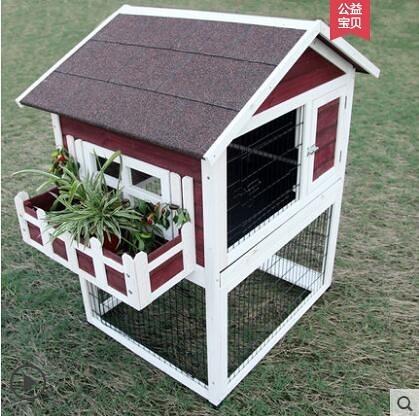 M-petsfit 防雨兔子窩舍兔籠木製超特大號雞籠寵物籠木屋木質松鼠籠