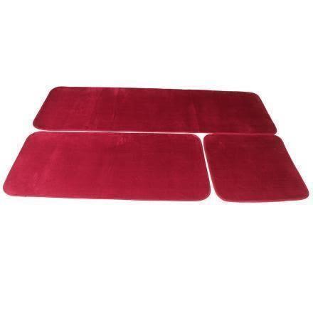 【巴芙洛】1+2+3人超柔超珊瑚絨坐墊53×53、52×111、54×165cm-紅色