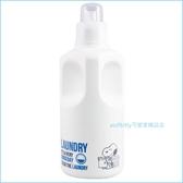 asdfkitty可愛家☆SNOOPY史努比透明蓋A款1L空罐/空瓶-洗衣精空罐/清潔劑空罐-附標示貼紙-日本製