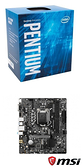 【自組DIY兩件組G6】Intel Pentium Gold G6400+微星 H510M BOMBER