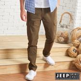 【JEEP】經典休閒修身口袋工作褲 (淺褐色)