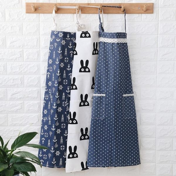 圍裙 北歐風全棉質布藝圍裙防油清潔圍裙廚房家居工作服面包店半身圍裙【諾克男神】