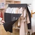 晾衣架落地衣架防塵遮蓋布衣服罩立體防塵罩套子加厚歐式臥室家用 蘿莉新品