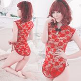 角色扮演旗袍服 cosplay 經典復古!透明蕾絲柔紗旗袍(紅)女衣
