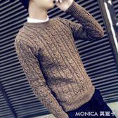 毛衣 冬季毛衣男針織衫學生圓領修身套頭打底衫個性男士季線衣潮 美斯特精品