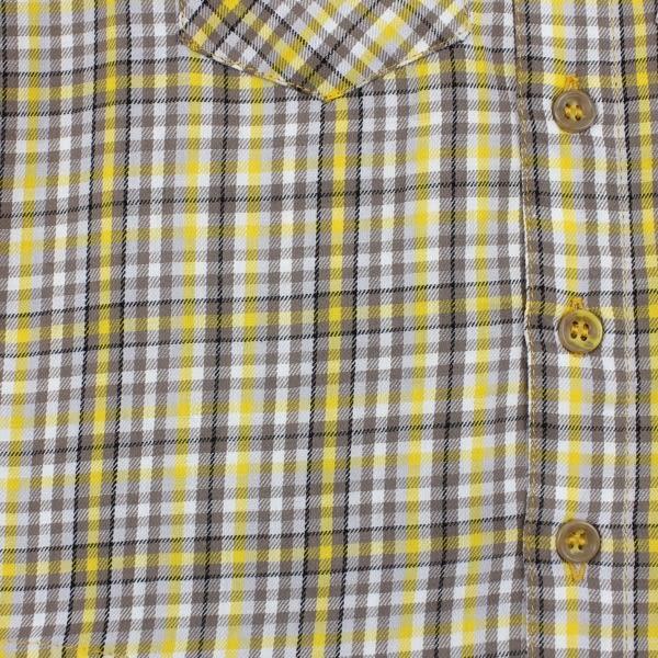 【愛的世界】純棉細格紋襯衫/6~12歲-中國製- ★秋冬上著