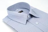 【金‧安德森】灰紫色粗細變化領窄版長袖襯衫