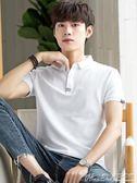 短袖Polo衫POLO衫男短袖翻領t恤韓版潮流2018新款男士 曼莎時尚