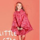 夏款時尚兒童波點雨衣風衣裙擺荷葉邊女童學生波點雨披 sxx2274 【大尺碼女王】