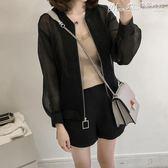 防曬衣防曬衣女長袖 夏季韓版加肥加大碼女裝寬鬆顯瘦200斤開衫短款外套 曼莎時尚
