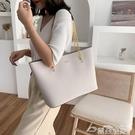 通勤包大包包女2021新款潮時尚大容量通勤側背包大學生上課包鍊條托特包 雲朵