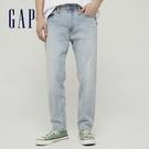 Gap男裝 時尚中腰寬鬆牛仔褲 718597-淺靛藍