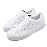 adidas 休閒鞋 Sleek Super W 白 金標 厚底 小白鞋 女鞋 【PUMP306】 EF8858