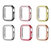 適用於蘋果手表鑲鑽保護殼iwatch6代電鍍保護殼applewatch6 PC殼