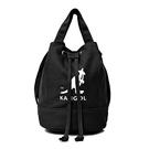 KANGOL Bucket bag 袋鼠 韓系 黑色 帆布 斜背 側背包 水桶包 6925300720-BLK
