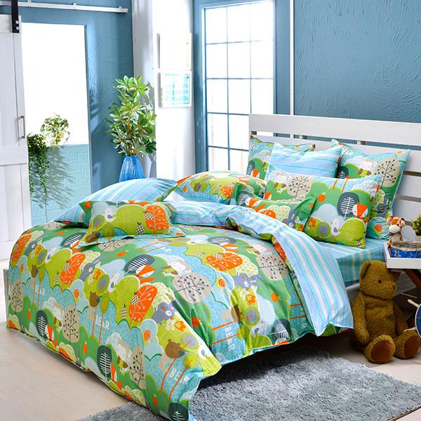 義大利Fancy Belle《童話世界》加大防蹣抗菌吸濕排汗兩用被床包組
